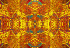 Gold ornament.  The pattern on the fabric, manual work Royalty Free Stock Photos