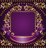 Gold ornament with a ribbon Stock Images