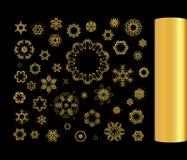 Gold  ornament set Stock Image