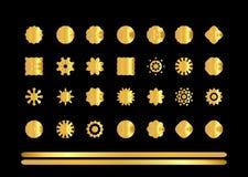 Gold  ornament set Royalty Free Stock Photo