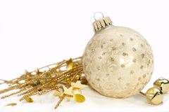 Gold Ornament On White Stock Photography