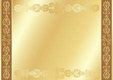 Gold ornamental background. Royalty Free Stock Images