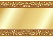 Gold ornamental background. Stock Image