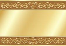 Gold ornamental background. Stock Image