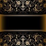 Gold ornamental background Stock Photos