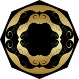 Gold ornamental circle Stock Photography