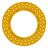 Gold ornamental frame 9 Royalty Free Stock Images