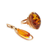 Gold ornaments with amber Royalty Free Stock Photo