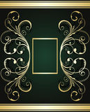 Gold ornate card Royalty Free Stock Photo