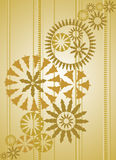 Gold ornate christmas background. Vector Stock Photos