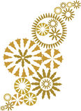 Gold ornate christmas design vector. Isolated gold ornate christmas design vector illustration Royalty Free Stock Photo