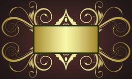 Gold ornate frame vector illustration