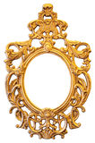 Gold Ornate Oval Frame Royalty Free Stock Images