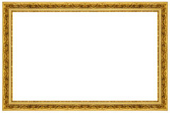 Gold Ornate Picture Frame. Old gold ornate picture frame Royalty Free Stock Photo