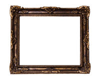 Gold ornate rococo frame Royalty Free Stock Photos