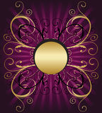 Gold ornate shield vector illustration