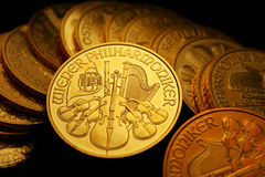 Gold ounces. These are gold ounces / philharmonic Stock Image