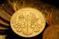 Gold ounces. These are gold ounces / philharmonic Stock Photos