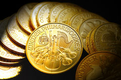 Gold ounces Stock Photo