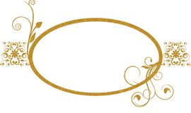 Gold oval frame background Stock Image