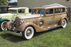 1934 Gold Packard Model 1108 Car Royalty Free Stock Photo