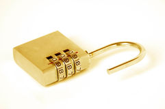 Gold padlock Royalty Free Stock Photography