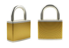 Gold padlock Stock Photos