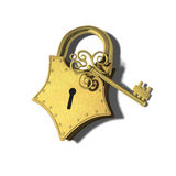 Gold padlock Stock Photography