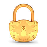 Gold Padlock Royalty Free Stock Photo