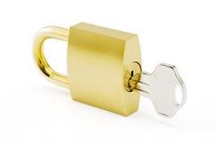 Gold padlock Stock Photography