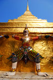 Gold pagada decorate by garuda Royalty Free Stock Photography