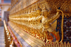 Gold pagada decorate by garuda in line up Stock Photography