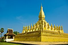 Gold pagoda Royalty Free Stock Images