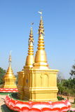 Gold Pagoda. In temple of thailand Stock Photography