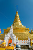 Gold pagoda on blue sky Stock Images