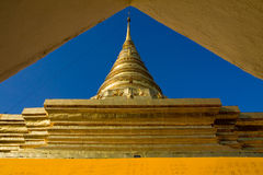 Gold pagoda Royalty Free Stock Image