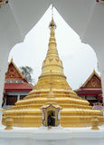 Gold Pagoda in frame Royalty Free Stock Image