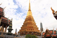 The gold pagoda in Grand Palace Wat Phra Kaew Stock Photography