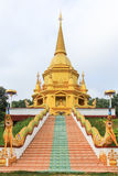 Gold pagoda. Have great nagas parallel ladder Stock Photos