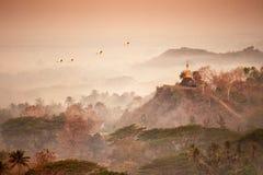 Gold pagoda of Mrauk u Stock Image