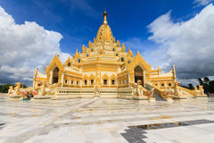 Gold pagoda. Myanma Royalty Free Stock Photography