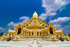 Gold pagoda. Myanmar. Ancient Gold pagoda at Myanmar Stock Images