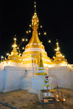Gold pagoda in the night Stock Images