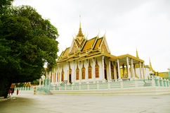 Gold Pagoda in Phnom Penh Stock Photography