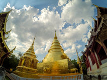 Gold pagoda. Pra sing temple chiangmai thailand Royalty Free Stock Images