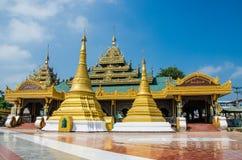 Myawaddy, Myanmar : Gold pagoda temple in myanmar Royalty Free Stock Photos