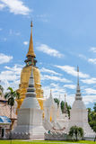 Gold pagoda. In temple, Thailand Royalty Free Stock Photos
