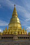 Gold pagoda in Thailand Stock Photography