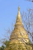 Gold pagoda in thailand Royalty Free Stock Photos