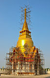 Gold pagoda underconstruction Stock Photography